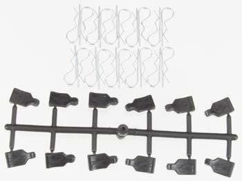Pro-Line 1/10 Pro-Pulls (12) Body Clips (20)