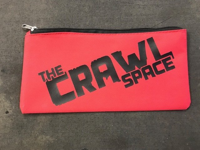 Red Tool Pouch with Black Logo
