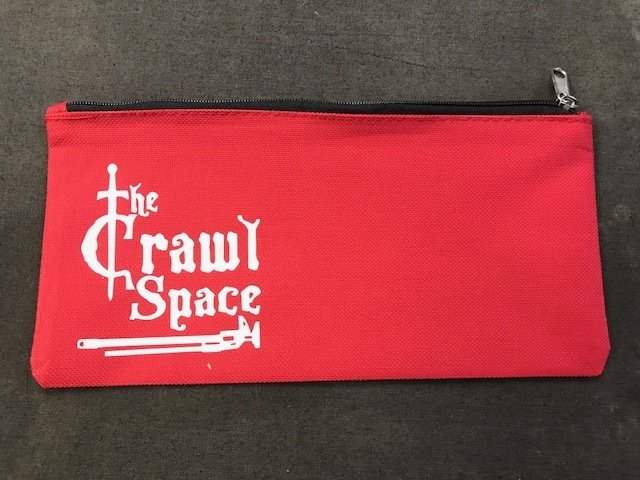 Red Tool Pouch White Hammer Logo