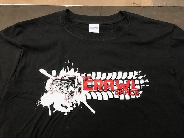 Crawl Space Splatter Yota Shirt, Black X-Large