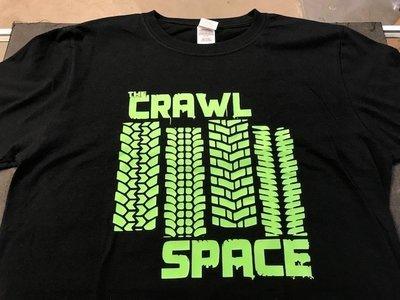 Crawl Space Green Tread Logo, Black 2XL