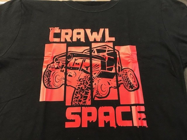 Crawl Space Red Crawler Shirt, Black Large