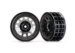 "Traxxas  Wheels, Method 105 2.2"" (black chrome, beadlock)"