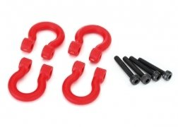 Traxxas Bumper D-Rings, Red