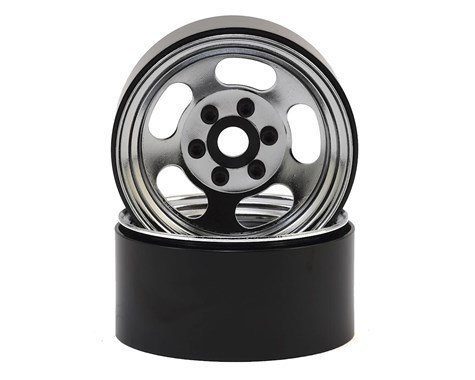 "SSD RC Slot 1.9"" Steel Beadlock Wheels (Chrome)"
