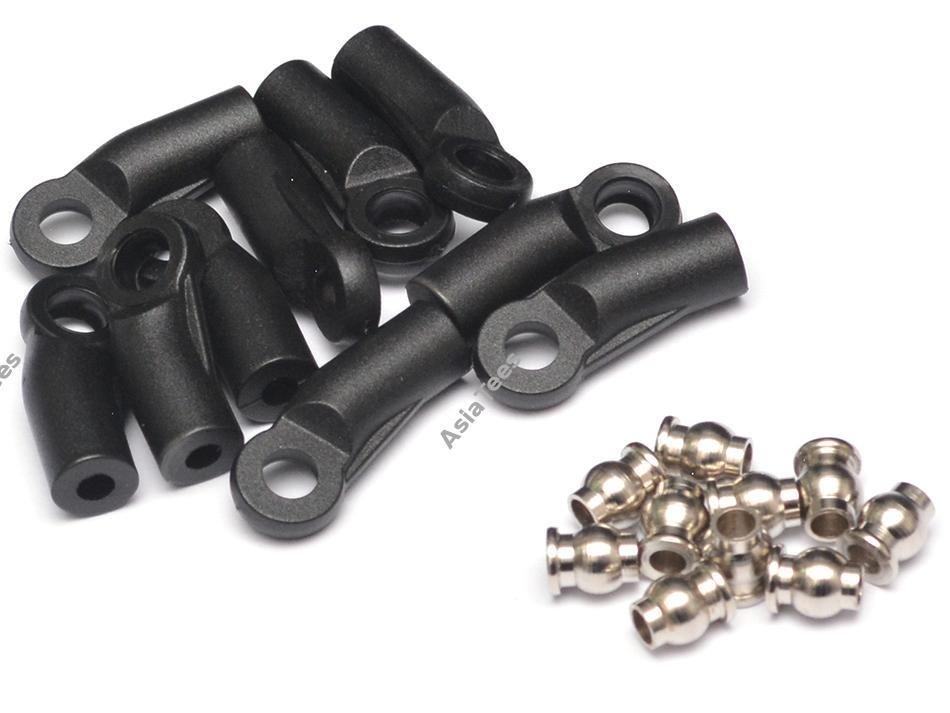 Team Raffee Co. M4 Nylon Rod Ends (Sideways) 19.5MM w/ Steel Pivot Ball (5.8x3x7.4mm) (10)