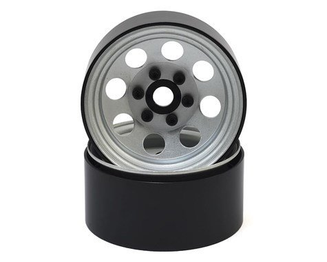 "SSD RC 8 Hole 1.9"" Steel Beadlock Wheels (Silver)"