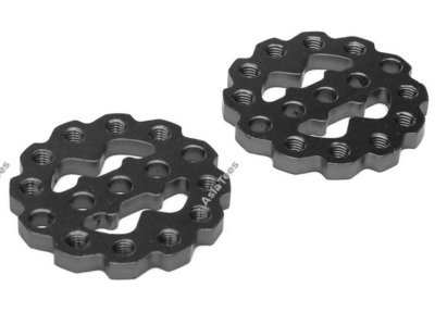 Boom Racing Rugged Gear Aluminum Universal Shock Ring Hoop 2Pcs Black