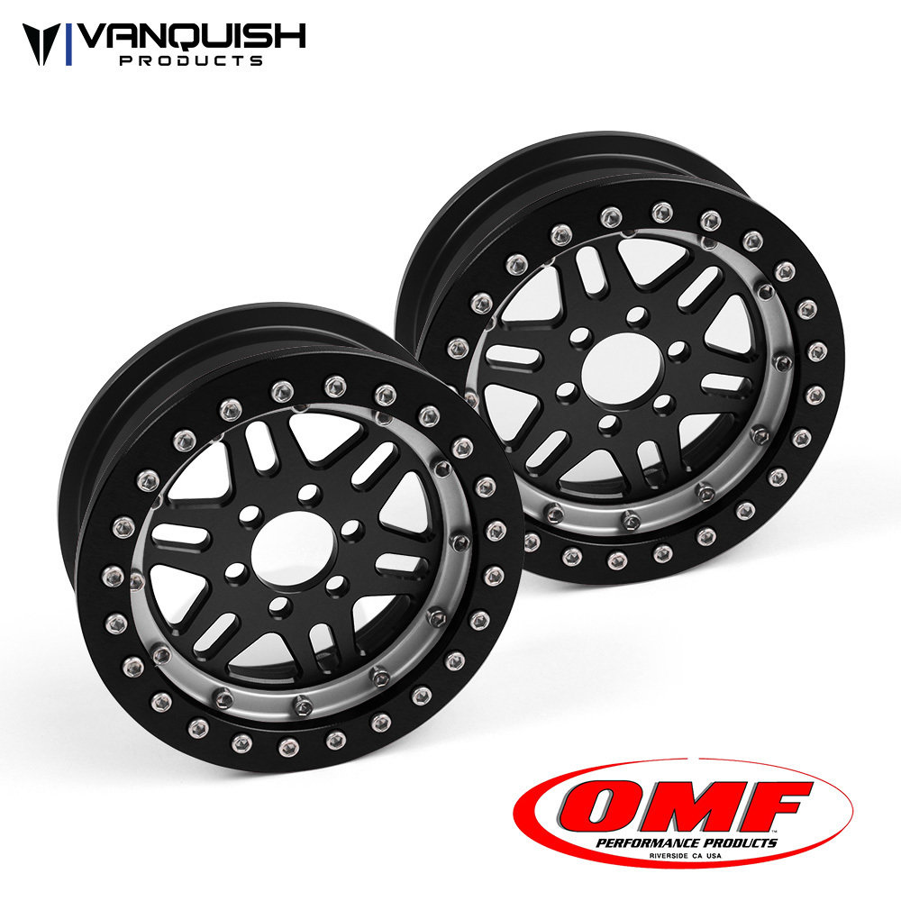 Vanquish Products OMF 2.2 NXG1 WHEEL SET BLACK/CLEAR