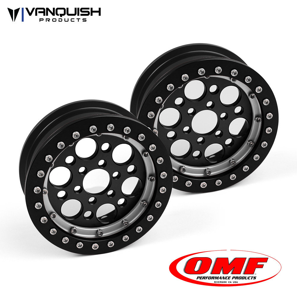 Vanquish Products OMF 2.2 OUTLAW II WHEEL SET BLACK/CLEAR