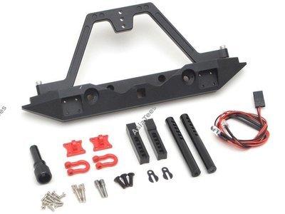 Team Raffee Co. Steel Tough Rear Bumper W/ Hooks & LED Light 1 Set for Traxxas TRX-4