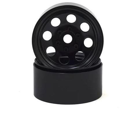 "SSD RC 8 Hole 1.9"" Steel Beadlock Wheels (Black)"