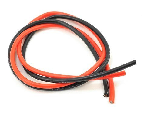ProTek RC 14AWG Red & Black Silicone Wire (2ft/610mm)