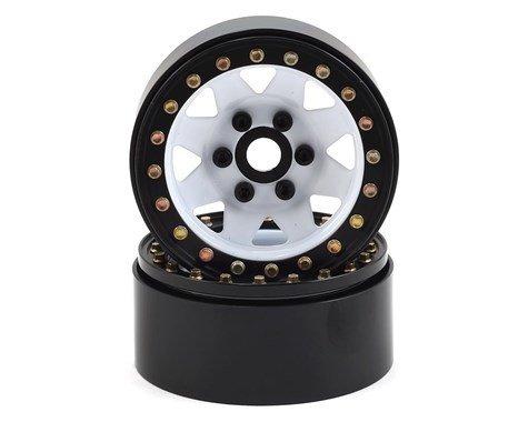 """SSD RC 1.9"""" Steel 8 Spoke Beadlock Wheels (White) (2)"""