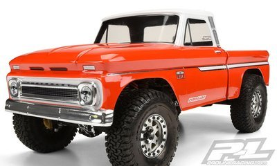 Pro-Line '66 Chevrolet C-10 Clear Body SCX10 313mm