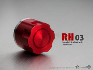 Gmade 1.9 RH03 Wheel Hubs (Red) (4)