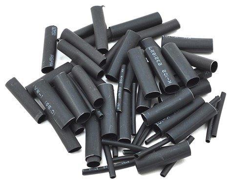 "ProTek RC 1.5, 5, 6 & 8mm Shrink Tubing Assortment Pack (Black) (20) (1"" Length)"