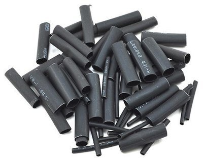 ProTek RC 1.5, 5, 6 & 8mm Shrink Tubing Assortment Pack (Black) (20) (1