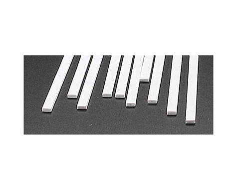 Plastruct MS-819 Rect Strip, Styrene .080x.187 (10)
