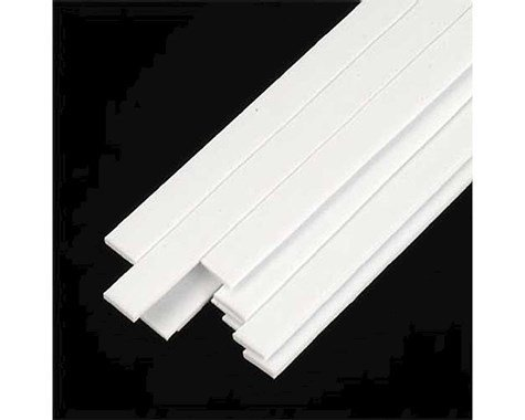 Plastruct MS-416 Rect Strip, Styrene .040x.156 (10)