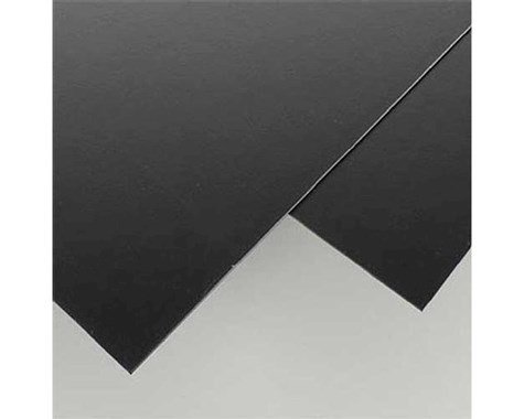 "Evergreen Scale Models Black Styrene Sheets, .03x8x21"" (2)"