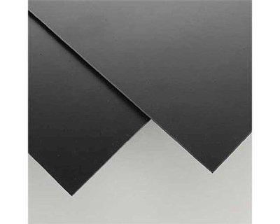Evergreen Scale Models Black Styrene Sheets, .08