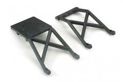 Traxxas Skid plates, front & rear (black)