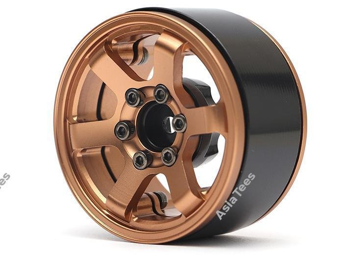 Boom Racing TE37LG KRAIT™ 1.9 Aluminum Beadlock Wheels w/ XT606 Hubs (4) Bronze