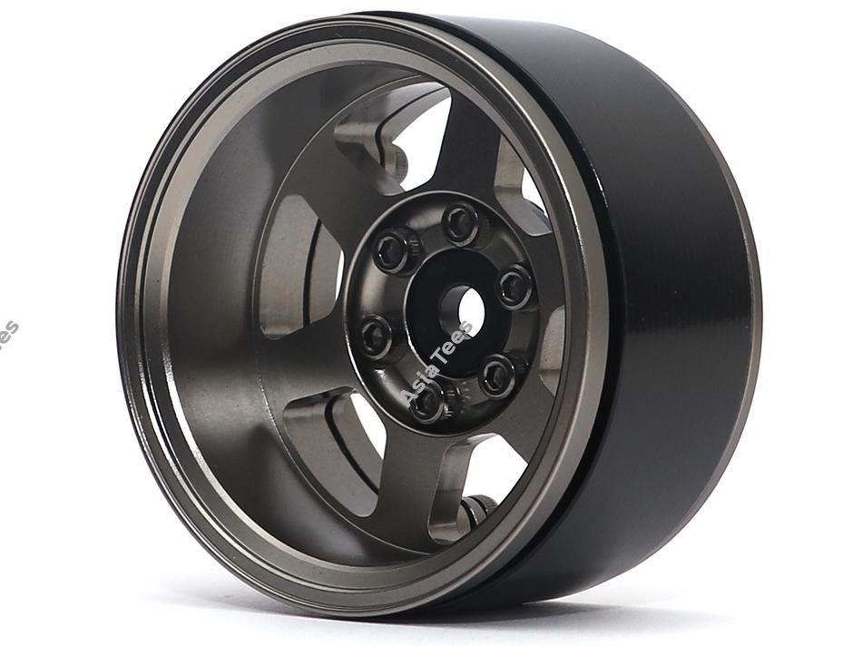 Boom Racing TE37XD KRAIT™ 1.9 Deep Dish Aluminum Beadlock Wheels w/ XT601 Hubs (4) Gun Metal