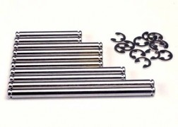 Traxxas Suspension pin set, hard chrome (w/ E-clips)