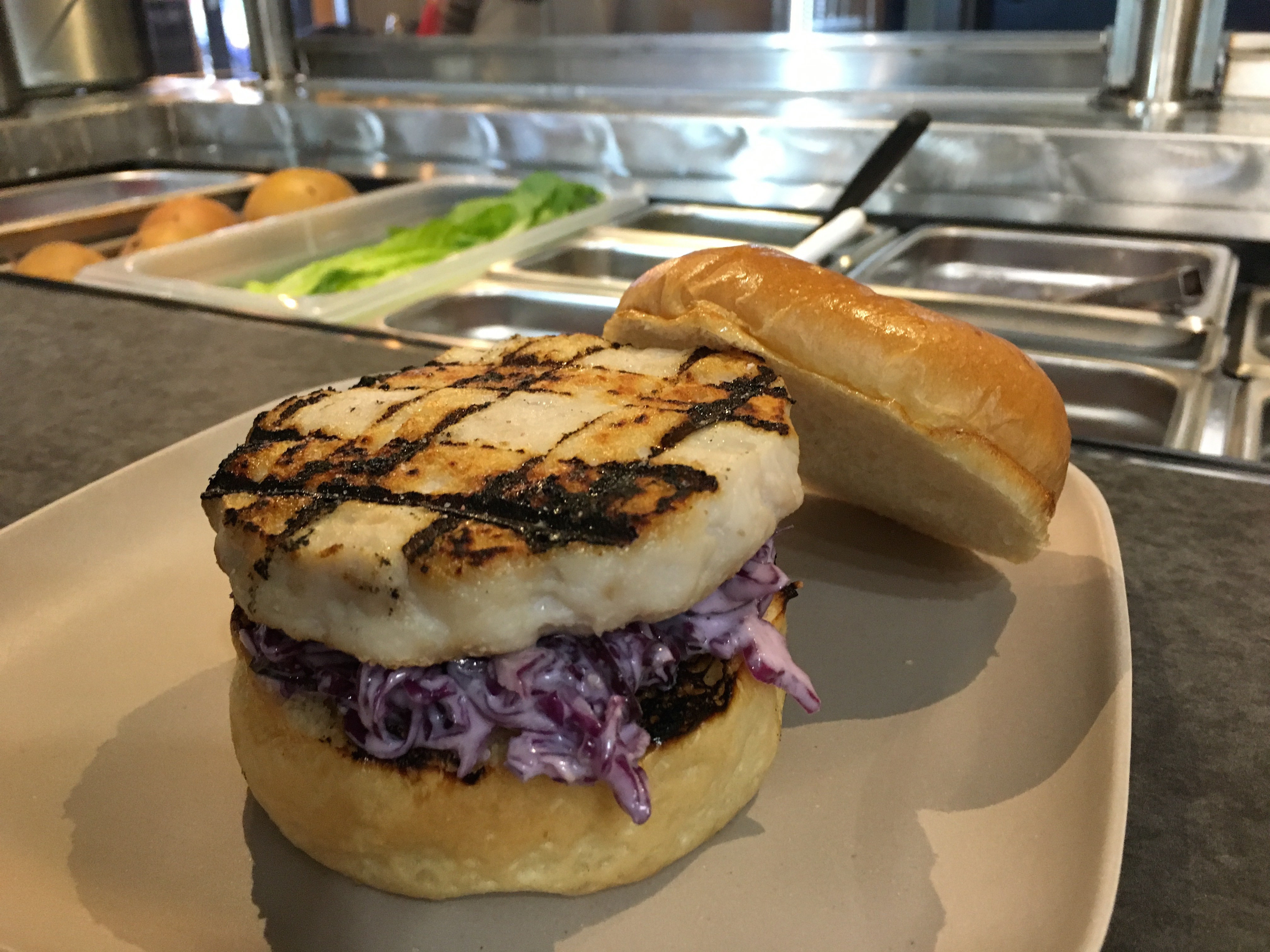 Wild Caught Fish Burger w/ Recommended Pairings Options 0001