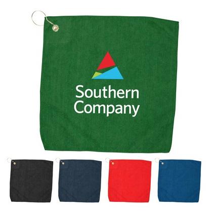 """Starting at $3.00 100-15"""" x 15"""" Hemmed Color Towel"""