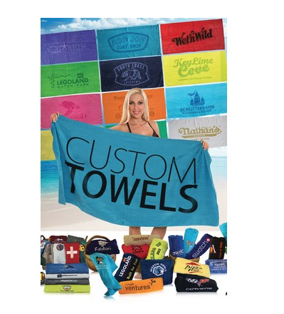 Starting at $9.00 12-Promotional Terry Velour Beach Towel