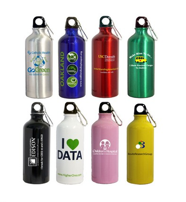 Starting at $2.50 ea 96-22 Oz. Aluminum Sports Water Bottle w/ Carabiner