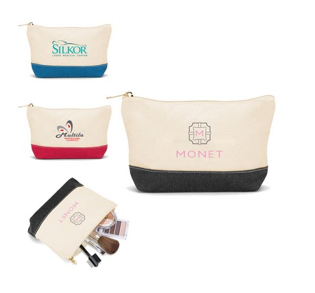 Starting at $4.95 ea 100-Cotton Canvas Cosmetics Bag