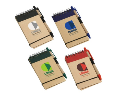 Starting at $1.35 ea 150-Think Green Recycled Notepad & Pen