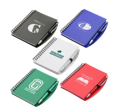 Starting at $1.85 ea 100-Hardcover Notebook & Pen Set