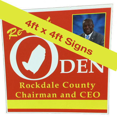 4ft. x 4ft. Political Yard Signs