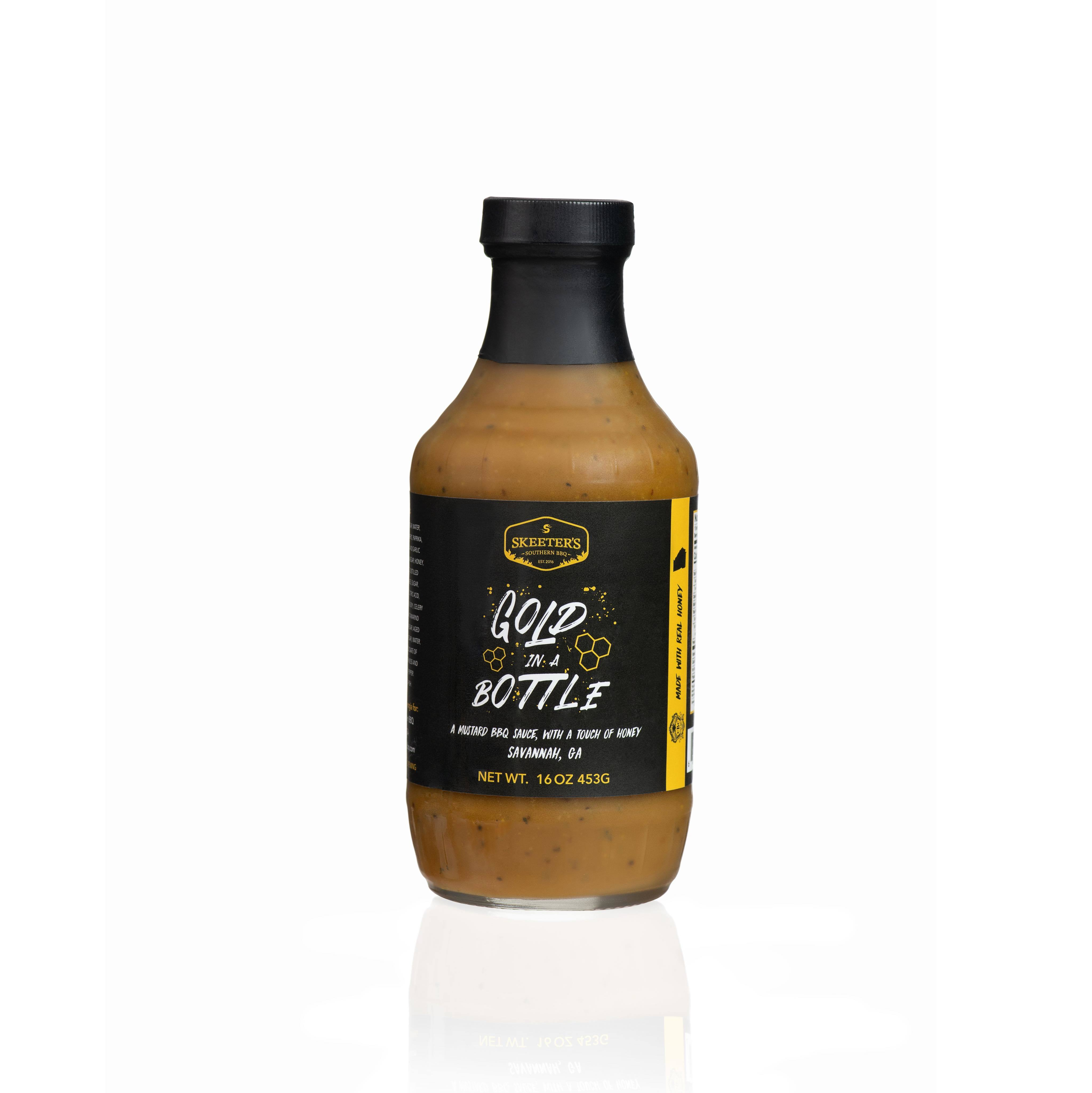 """""""Gold In A Bottle"""" Mustard BBQ Sauce S001"""