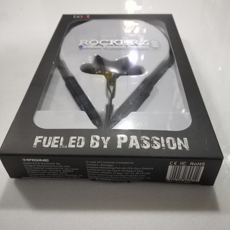 boAt Rockerz 255r Bluetooth headsets, Black