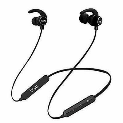 boAt Rockerz 255r Bluetooth headsets, Black