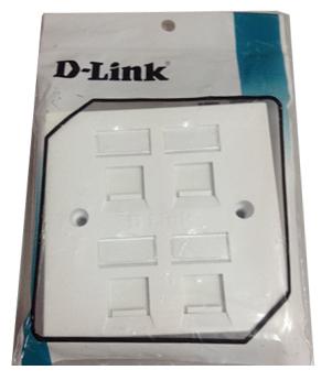 D-Link 86*86 mm, Quad Faceplate