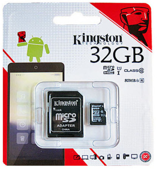 Kingston 32GB Memory Card, 80mbps, Class 10