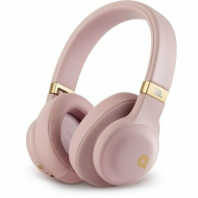 JBL E55BT Quincy Edition Bluetooth Over-Ear Headphones with Mic, Pink