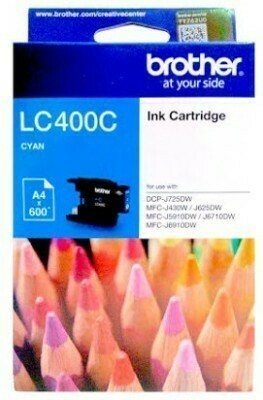 Brother LC400 Ink Cartridge, Cyan