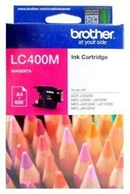 Brother LC400 Ink Cartridge, Magenta