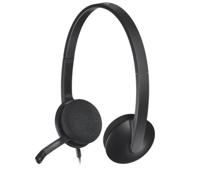 Logitech H340 USB Headset with Noise-Cancelling Mic