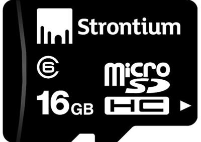 Strontium 16GB Memory Card, MicroSDHC, Class 6