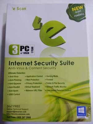 3 User, 1 Year, eScan Internet Security, V-11x