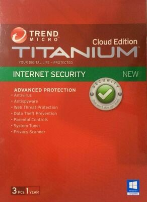 3 User, 1 Year, Trend Micro Titanium Internet Security
